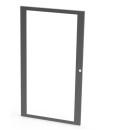 4U Wall Mount Rack Glass Door