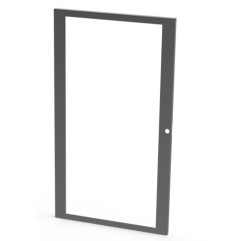4U Wall Mount Rack Glass Door